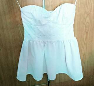 H&M white bustier top