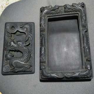 Vintage Dragon Ink Stone