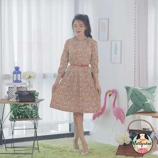 🍿 Vintage Midi Dress VD1097
