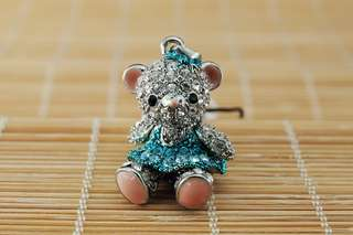 Crossfor Teddy Bear Crystal Necklace