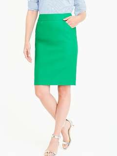 J Crew pencil skirt in double serge cotton (size 2)