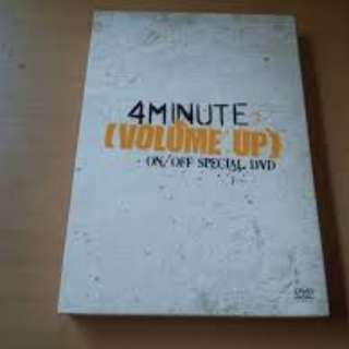 ONHAND SEALED 4MINUTE - [VOLUME UP] ON/OFF SPECIAL DVD