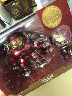 Marvel Avengers Age Of Ultron Bobble-Head Collectible Set (Series 2.5) Iron man+Hulk-buster 100%全新