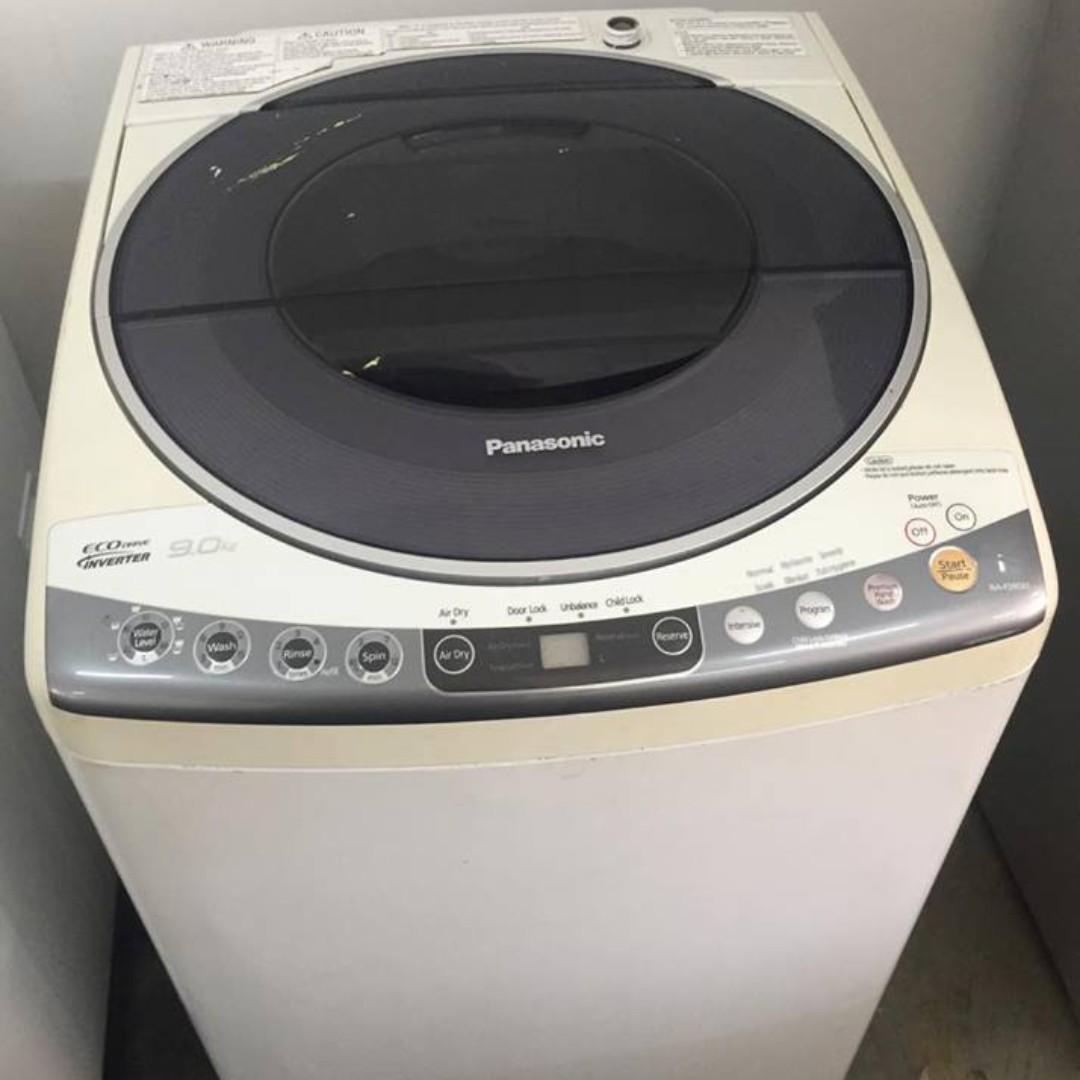 b8c4cb049344da 9kg Inverter Panasonic Washing Machine Mesin Basuh Recon, Kitchen    Appliances on Carousell