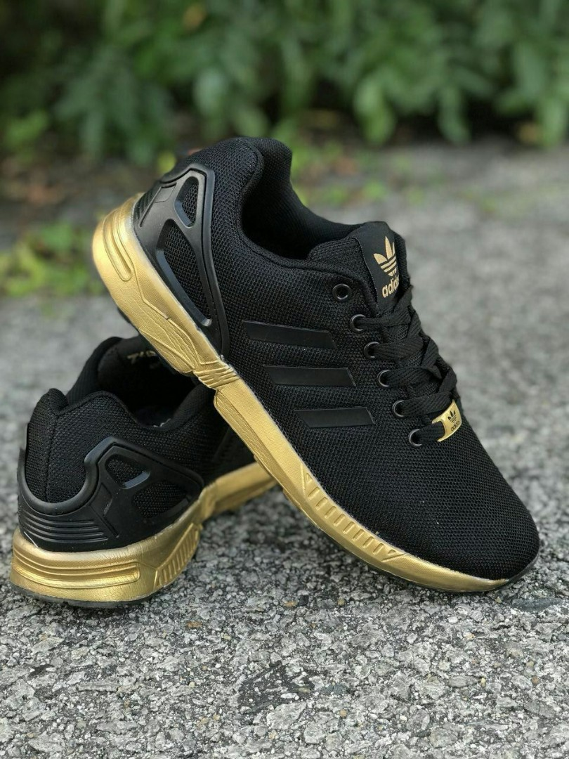 timeless design 5c76e 7168c Adidas ZX Flux Black Gold