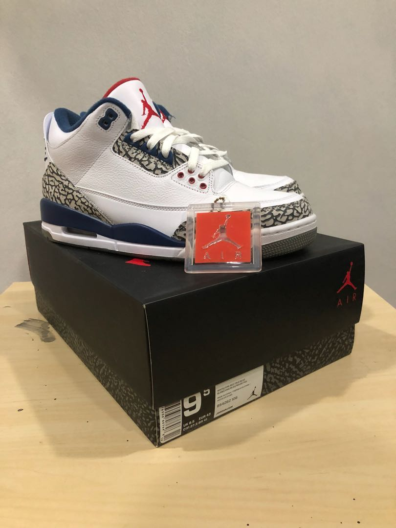 ad6320a4ebf69b Air Jordan 3 OG True Blue US9.5