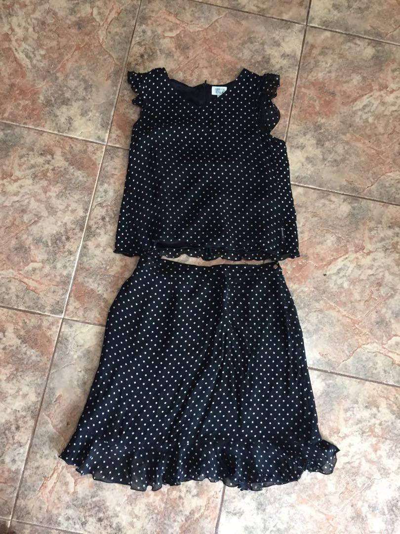 Armani Junior Polka Dot Skirt and Top S