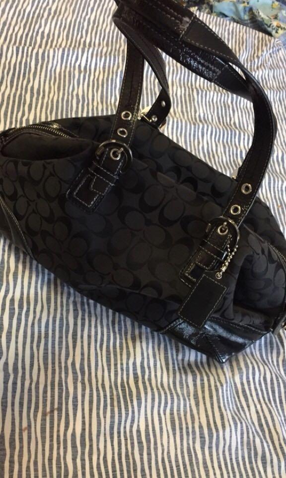 Authentic black coach bag purse