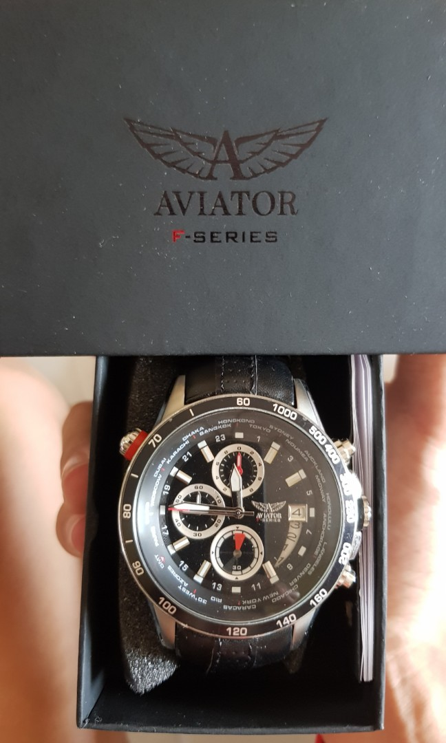 c2250a7218391d Aviator F-Series Chronograph Watch, Men s Fashion, Watches on Carousell