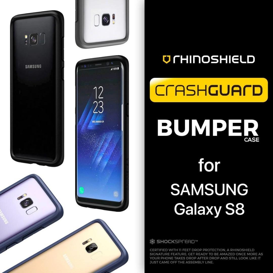 half off b0336 3d773 BRAND NEW RHINOSHIELD CRASHGUARD BUMPER CASE FOR SAMSUNG GALAXY S8 ONLY
