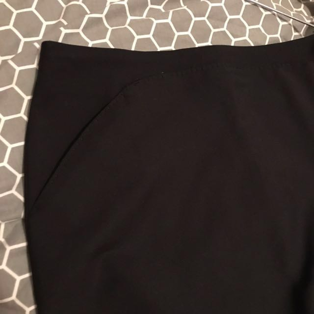 BRAND NEW Zara Basic Black Skirt
