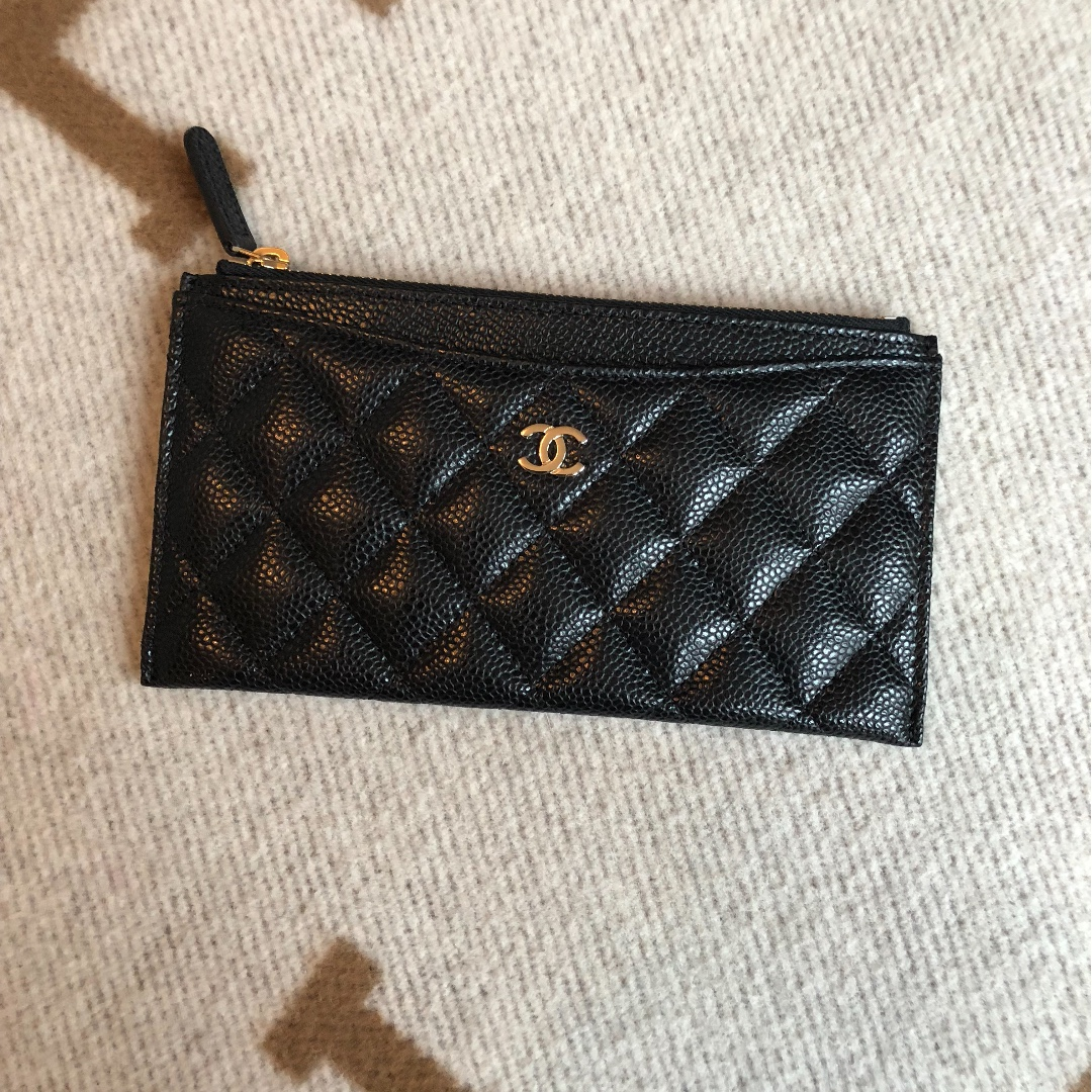 9e09bd74c6f2 Chanel Flat Pouch, Luxury, Bags & Wallets on Carousell