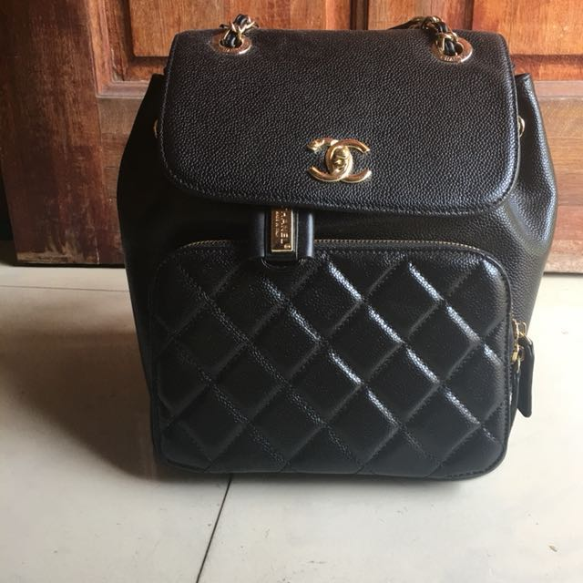 ab3004ef15a9 Chanel inspired backpack/Leather bag, Women's Fashion, Bags & Wallets on  Carousell