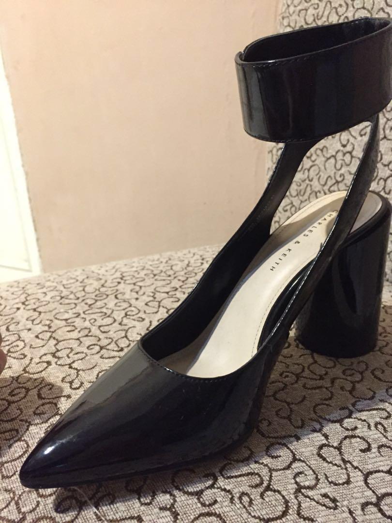 Charles And Keith Black Shoes Fesyen Wanita Sepatu Di Carousell Amazara Kendall Heels Hitam 39