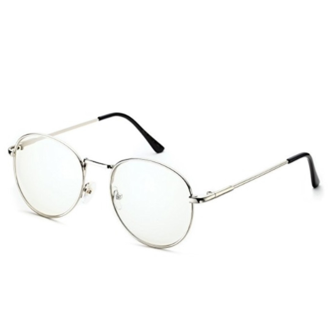 ab36134394a67 Classic Retro Metal Frame Clear Lens Round Circle Eye Glasses