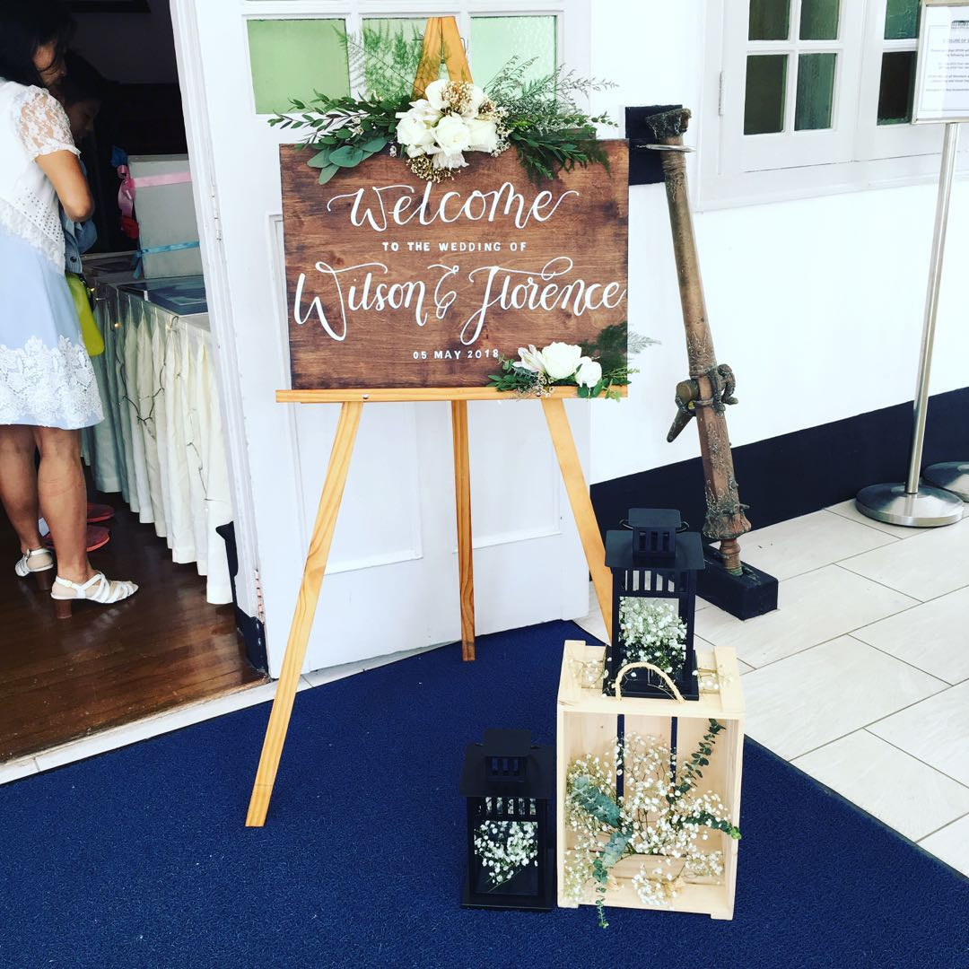 Easel Stand With Wooden Calligraphy Board Wedding
