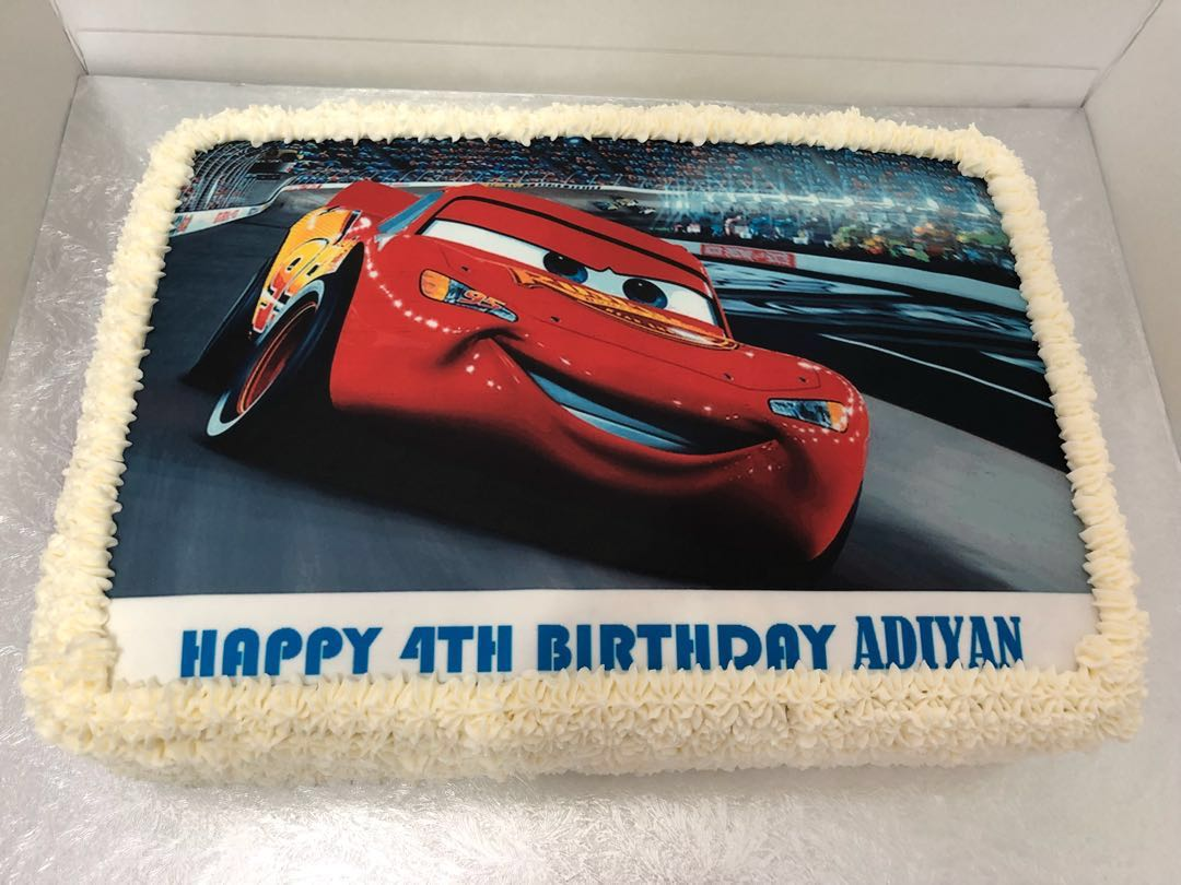 Edible Print Cake Custom Car Theme Food Drinks Baked