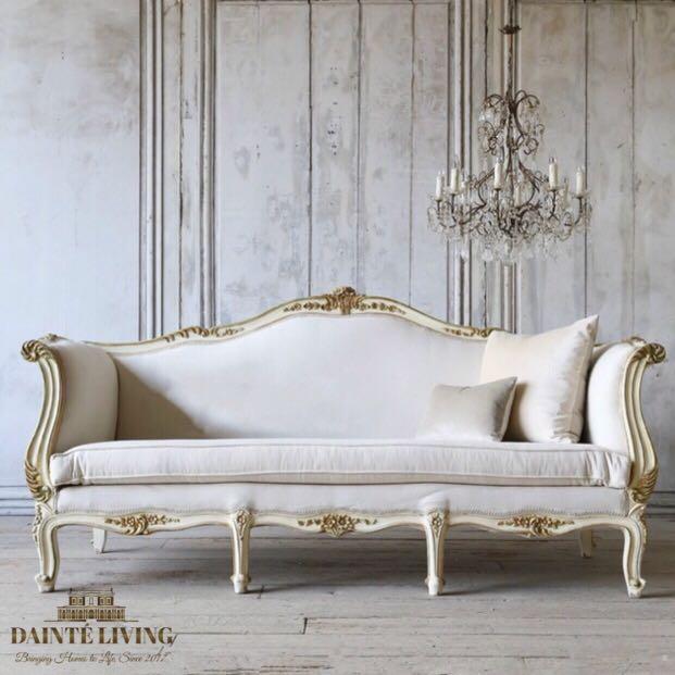 French Cau De Dolce Vita Victorian Sofa Bespoke