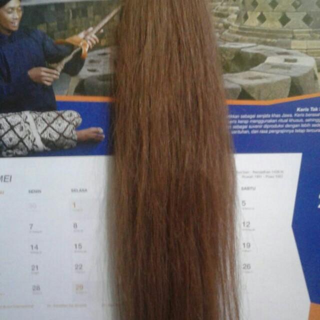 Hair Clip Extension 100% Rambut Asli 60cm