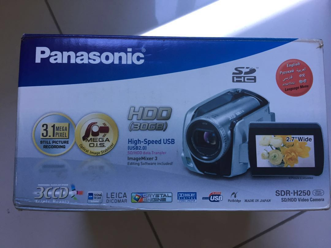 HDD 30GB Panasonic Camcorder