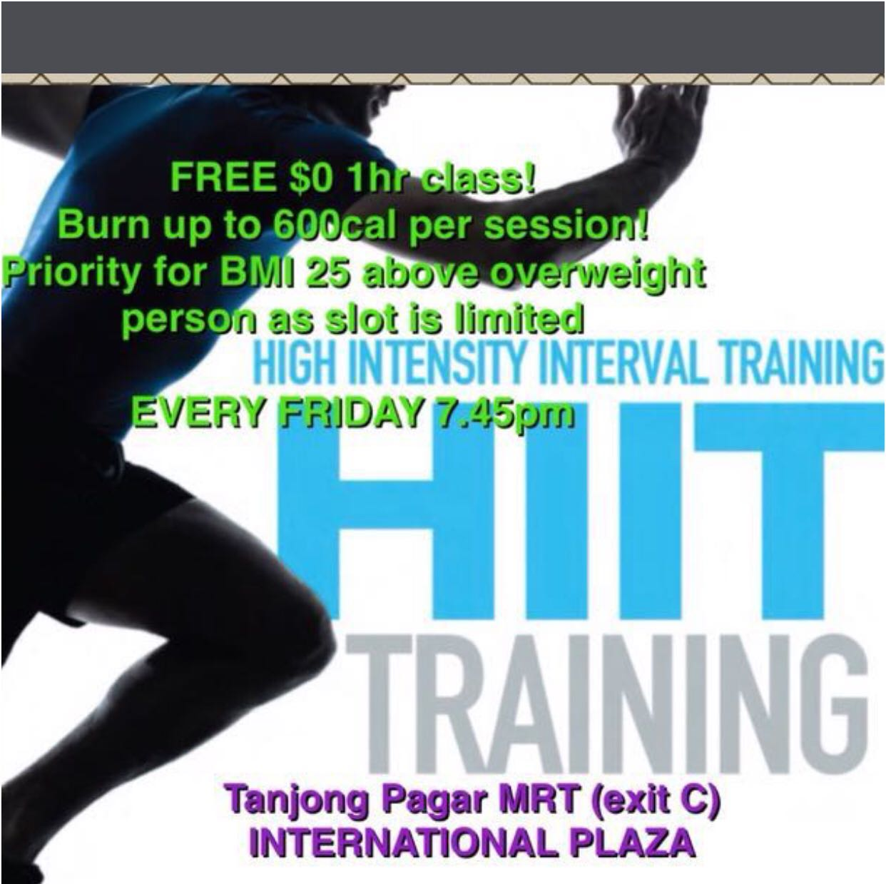 HIIT indoor free!! ❌Herbalife ❌Zumba ❌true fitness ❌fitness first ❌real yoga membership❌adidas ❌Nike ❌forever21✅burn fats✅weightloss✅slimming