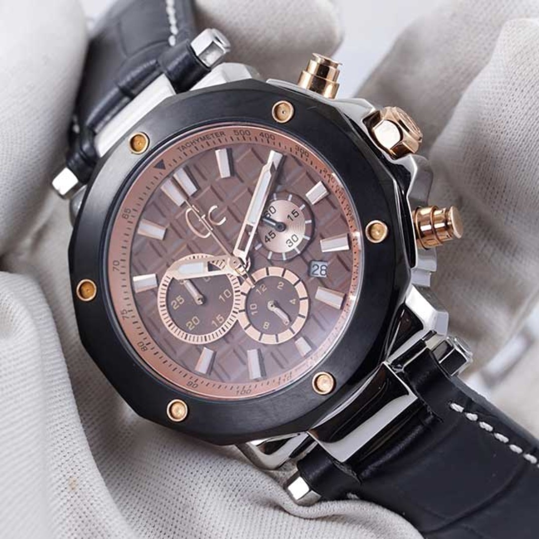Jam Tangan Guess Gc 3 X72018g4s Kulit Hitam Kw Super Premium Quality Expedition 6658fubl Chronograph Watch Pria Strap Mens Fashion Watches On Carousell