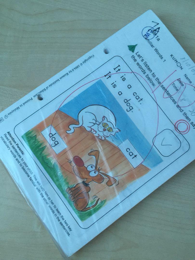 Kumon English Level 7A Worksheets 1-200, Books & Stationery ...