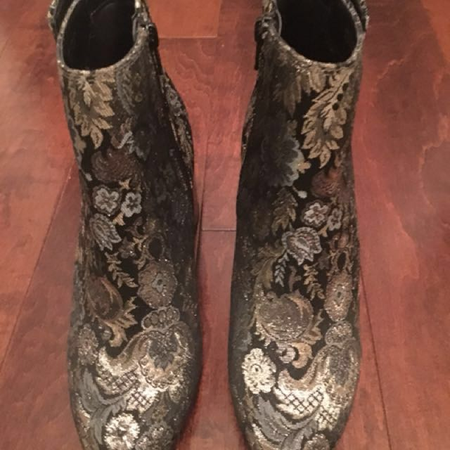 Metallic boots-ladies size 9