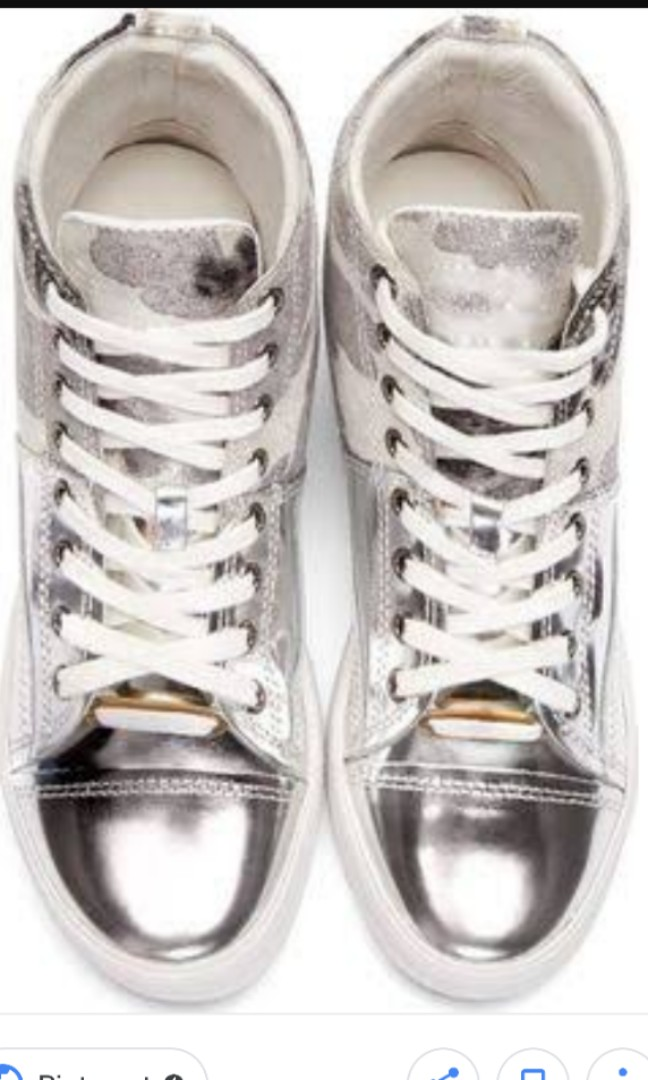 CLEARANCE SALE!! mihara yasuhiro metallic high cut lace up sneakers ... 947e1e12d