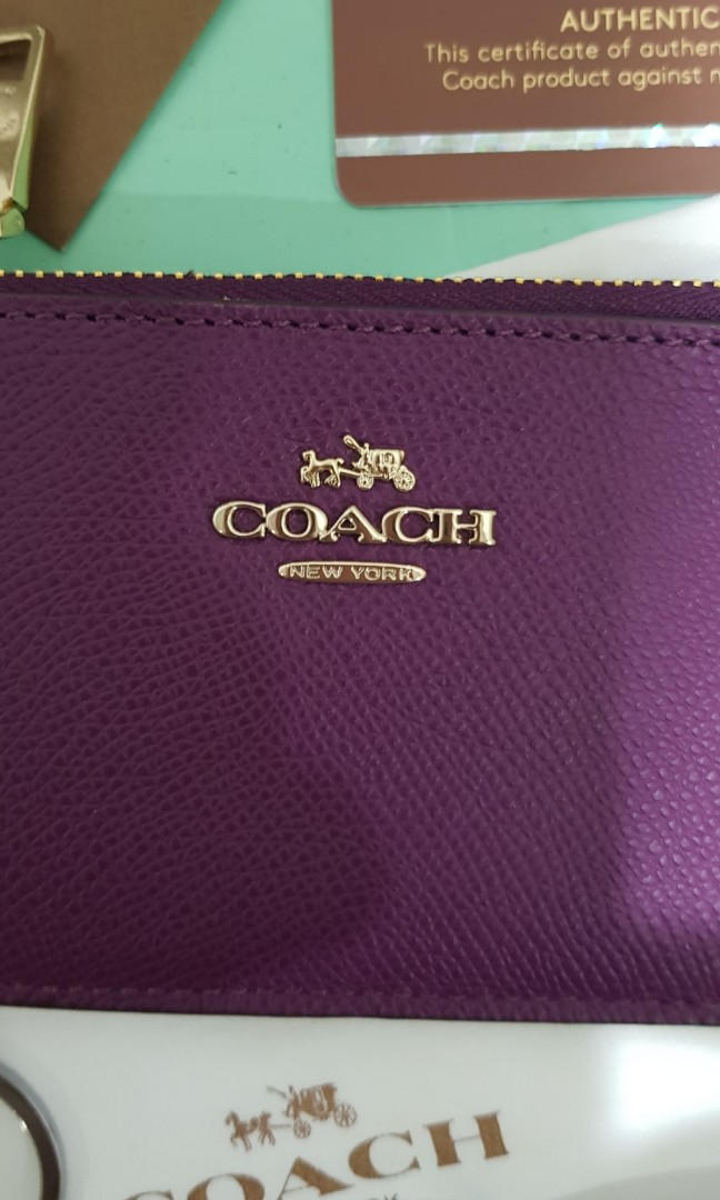 Mother's Day gift, Authentic coach mini skinny wallet-ID case