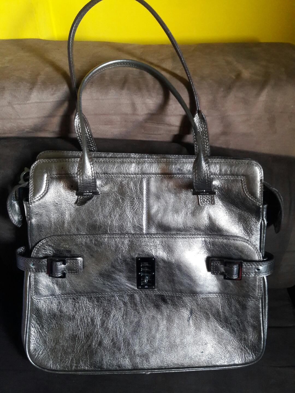 687e579cc98e Mulberry metallic tote bag