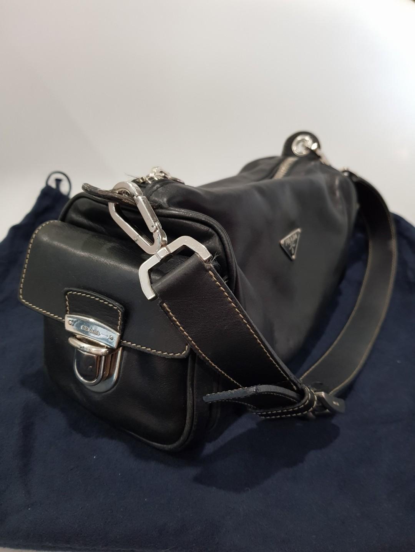 e0411dec69 Prada leather shoulder bag
