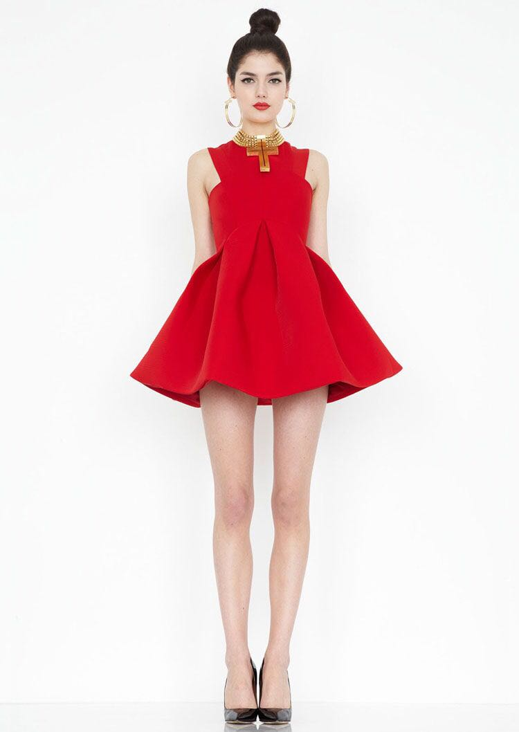 Red skirt size 8
