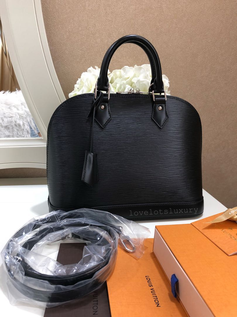 791dc856c68f SOLD) Like New Louis Vuitton Alma PM Epi Leather Noir with Strap ...