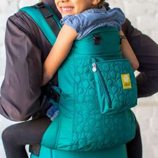 EUC Lille Baby Carrier CarryOn Embossed Emerald