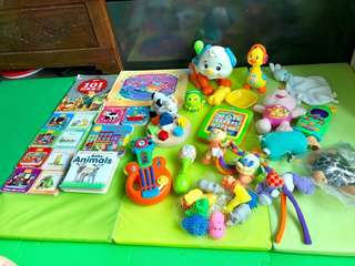 Toddlers books and toys