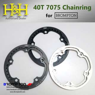 H&H 40T Unibody 7075 Chainring+Chainguard