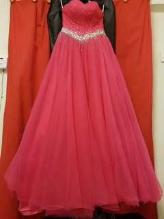 Ball gown dress to let go