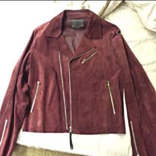 Clearance Sale! Authentic Prada Runway Biker Leather Jacket