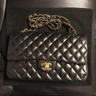 Chanel Classic 經典黑金 GHW gold chain 25cm bag