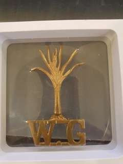 Genuine Scarce W.G. Welsh Guards Hat Cap Badges Brass