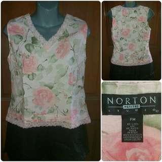 Norton Smart Floral Sleeveless Top