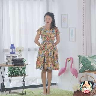 🍿 Vintage Midi Dress VD1102