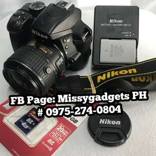 Nikon d3300 with 18-55mm kit and accessories (2ndhand)