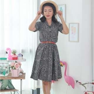 🍿 Vintage Midi Dress VD1275