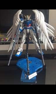 上色完成品 連底座 有盒 MG 1/100 Wing Gundam Zero Custom 天使 高達