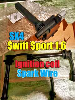 Suzuki Swift Sport / SX4  ignition coil + spark wire 1.6L