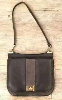 La Blanche vintage handbag 60's深灰色皮袋