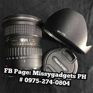 Tokina SP 11-16mm f2.8 DX II AT-X PRO for Canon mount (2ndhand)