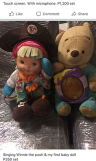 Singing Winnie the pooh & My first baby doll